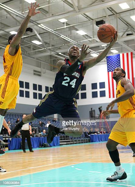 Jeremy Wise of the Bakersfield Jam shoots the ball against the Fort Wayne Mad Ants during the 2011 NBA DLeague Showcase on January 12 2011 at the...