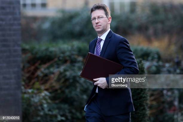 Jeremy Wright UK attorney general arrives for a weekly meeting of cabinet ministers at number 10 Downing Street in London UK on Tuesday Jan 30 2018...