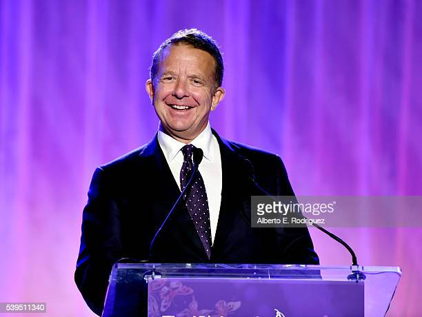 Jeremy Zimmer speaks onstage during the 15th Annual Chrysalis Butterfly Ball at a Private Residence on June 11 2016 in Brentwood California