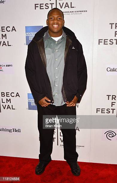 Jeremy Zuttah of the Tampa Bay Buccaneers attends the Tribeca/ESPN Sports Film Festival Gala Catching Hell during the 10th annual Tribeca Film...