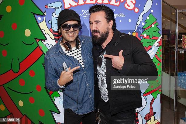 Jeremyville and President of Kiehl's Chris Salgardo visits The Kiehl's Cosmetics Counter at Macy's Herald Square on November 19 2016 in New York City
