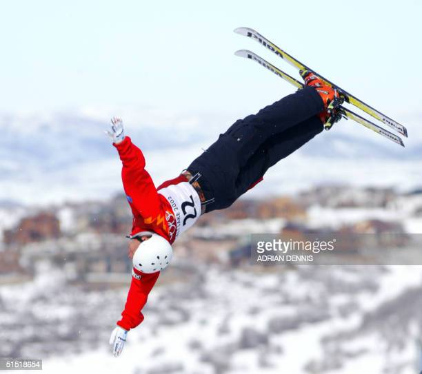 Jeret Peterson of the US during the qualification round of the freestyle skiing Men's Aerial Freestyle qualification at the XIX Winter Olympic Games...