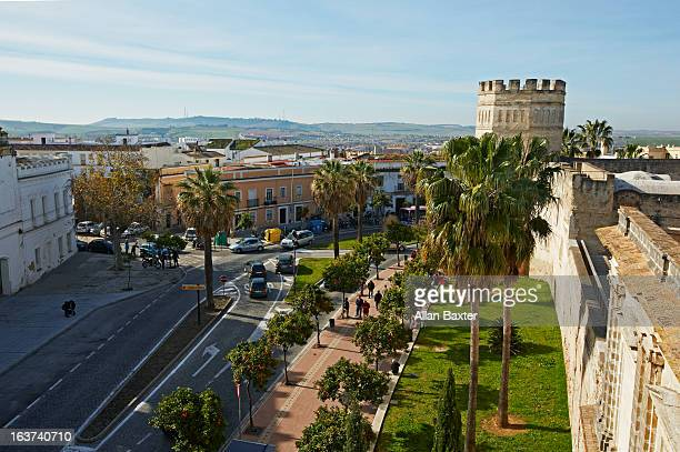jerez de la frontera from alcazar - jerez de la frontera stock pictures, royalty-free photos & images