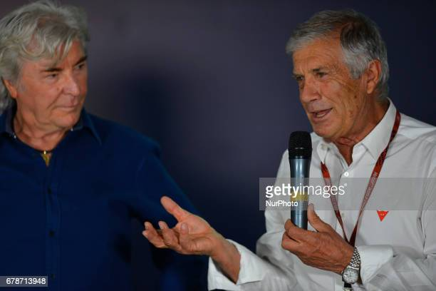 Jerez de la frontera SPAIN 4th of May 2017 Gran Premio Red Bull of Spain Press conference ANGEL NIETO Giacomo Agostini
