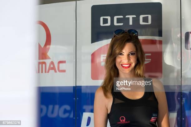 Jerez de la frontera SPAIN 6th of May 2017 Gran Premio Red Bull of Spain Free practice Umbrella girl of OCTO PRAMAC RACING DUCATI