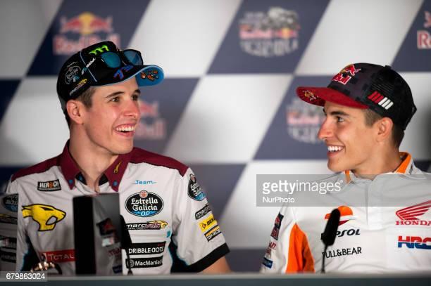 Jerez de la frontera SPAIN 6th of May 2017 Gran Premio Red Bull of Spain Press conference after qualifying Alex MARQUEZ EG 00 Marc VDS Kalex REPSOL...