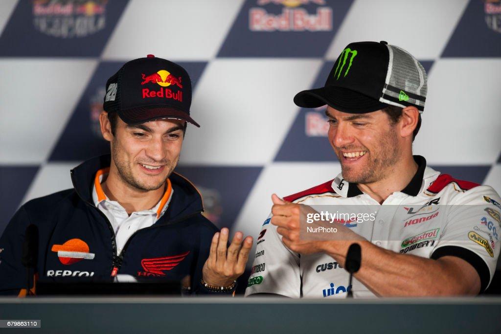 Jerez de la frontera, SPAIN - 6th of May, 2017: Gran Premio Red Bull of Spain. Press conference after qualifying. LCR HONDA HONDA #26 DANI PEDROSA (SPANISH) REPSOL
