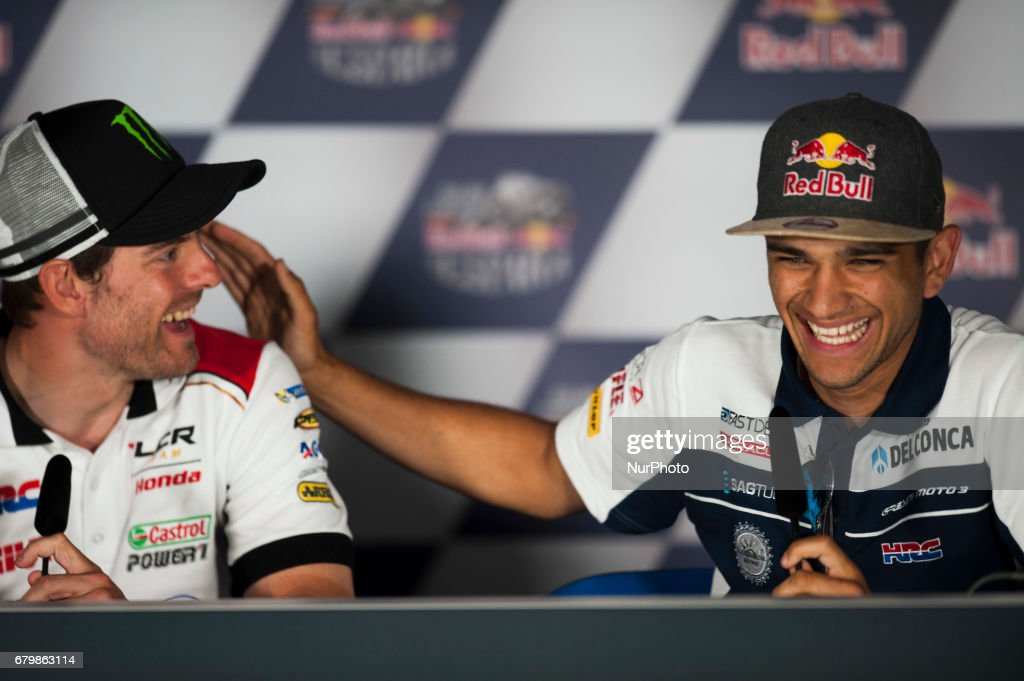 Jerez de la frontera, SPAIN - 6th of May, 2017: Gran Premio Red Bull of Spain. Press conference after qualifying. #88 Jorge MARTIN (SPA) Del Conca Gresini Moto3 Honda LCR