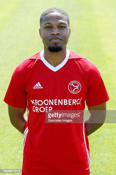 Jerge Hoefdraad of Almere City during the Photocall Almere City at the Yanmar Stadium on July 16 2018 in Almere Netherlands