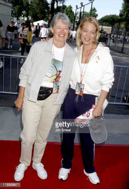 Jeri Ryan and Mother during 7th Annual Revlon Walk for Women's Cancer at Los Angeles Memorial Coliseum in Los Angeles, California, United States.