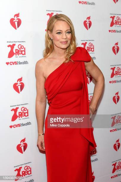Jeri Ryan attends The American Heart Association's Go Red for Women Red Dress Collection 2020 at Hammerstein Ballroom on February 05 2020 in New York...