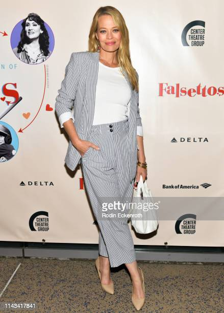 Jeri Ryan attends the opening of Center Theatre Group's Falsettos at Ahmanson Theatre on April 17 2019 in Los Angeles California