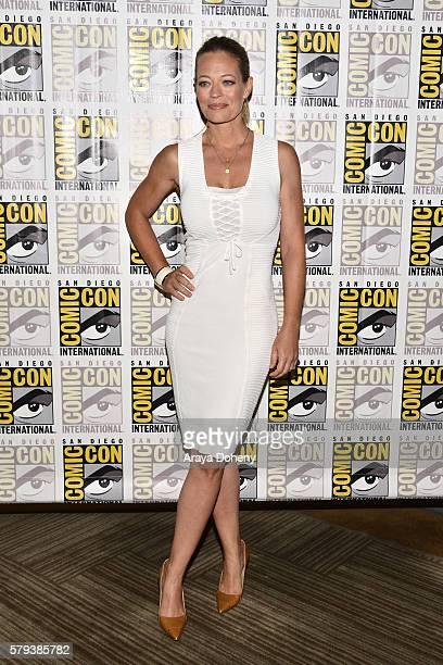 Jeri Ryan attends the Star Trek 50 press line at ComicCon International 2016 Day 3 on July 23 2016 in San Diego California