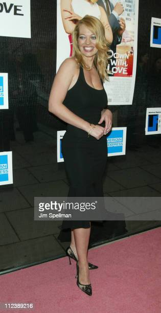 Jeri Ryan during 2003 Tribeca Film Festival 'Down With Love' World Premiere at Tribeca Performing Arts Center 199 Chambers Street in New York City...