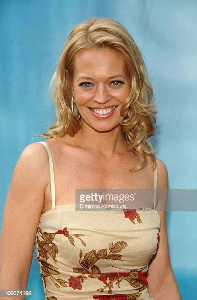 Jeri Ryan during CBS 2006/2007 Upfront Red Carpet at Tavern on the Green in New York City New York United States