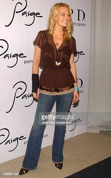 Jeri Ryan during Paige Premium Denim Party Arrivals at Paige Premium Denim Flagship store in Los Angeles California United States