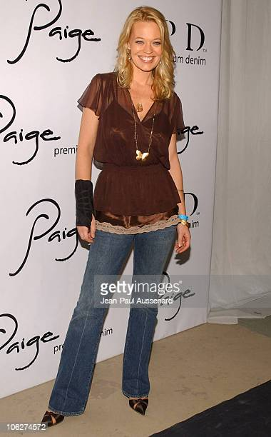 Jeri Ryan during Paige Premium Denim Party Arrivals at Paige Premium Denim Flagship store in Los Angeles California United States