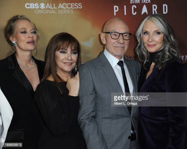 "Jeri Ryan, Marina Sirtis, Patrick Stewart and Gates McFadden arrive for the Premiere Of CBS All Access' ""Star Trek: Picard"" held at ArcLight Cinerama..."