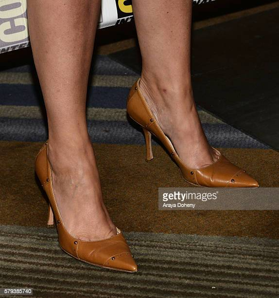 Jeri Ryan shoe detail attends the Star Trek 50 press line at ComicCon International 2016 Day 3 on July 23 2016 in San Diego California