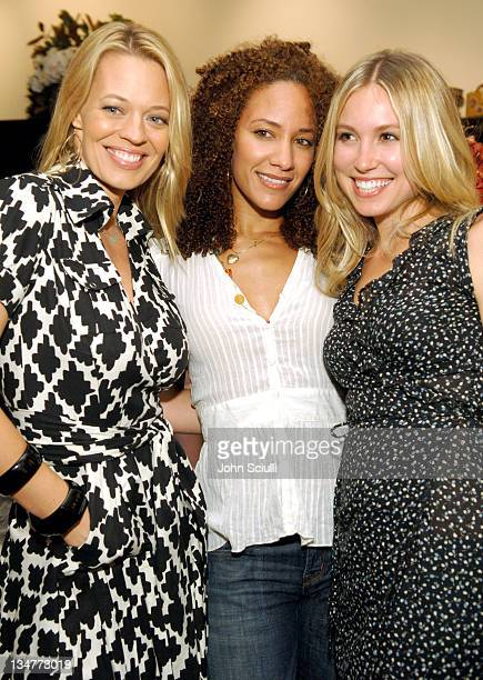 Jeri Ryan Sophina Brown and Sarah Carter during Lucky Magazine Hosts Party to Celebrate LA Shopping Guide at Milk Boutique at Milk Boutique in Los...