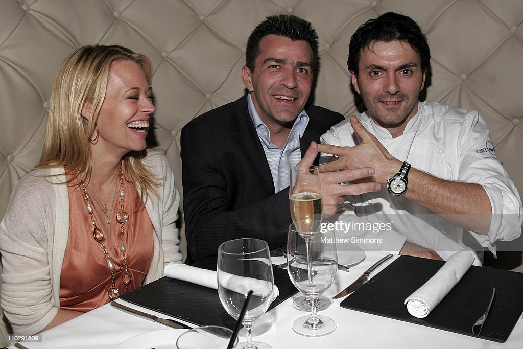 Chef Yannick Alleno Dines at Ortolan with Jeri Ryan and Christophe Eme -