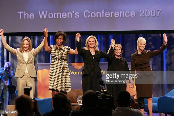 Jeri Thompson Michelle Obama Ann Romney Elizabeth Edwards and Cindy Hensley McCain attend a Conversation with Presidential Spouses discussion at the...