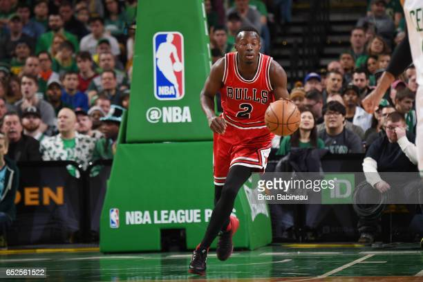 Jerian Grant of the Chicago Bulls handles the ball against the Boston Celtics against the Boston Celtics during the game on March 12 2017 at the TD...