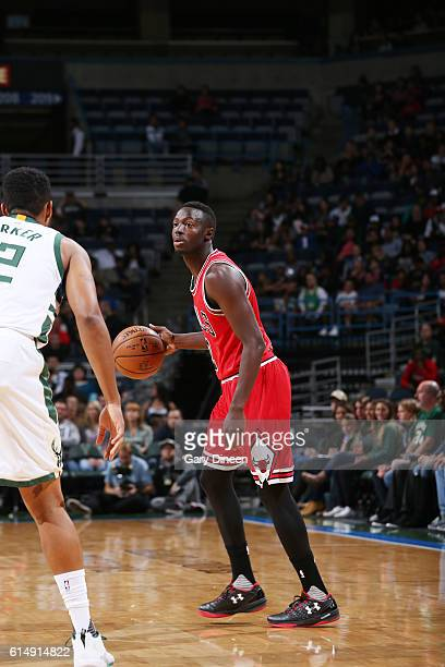 Jerian Grant of the Chicago Bulls handles the ball against the Milwaukee Bucks on October 15 2016 at the BMO Harris Bradley Center in Milwaukee...