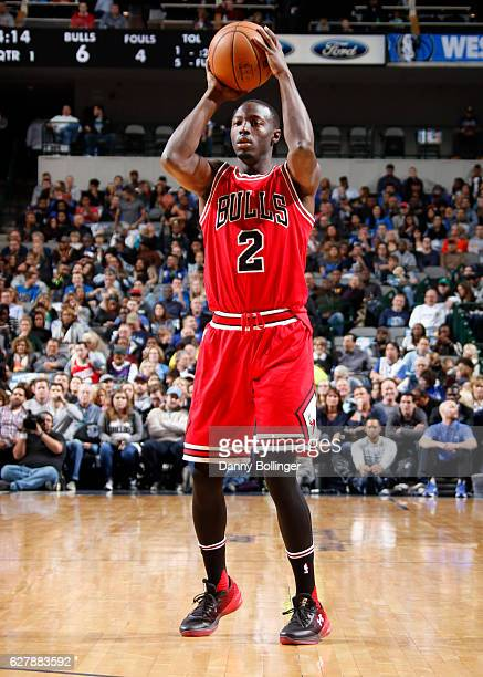 Jerian Grant of the Chicago Bulls handles the ball against the Dallas Mavericks on December 3 2016 at the American Airlines Center in Dallas Texas...