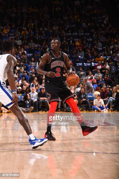 Jerian Grant of the Chicago Bulls handles the ball against the Golden State Warriors on November 24 2017 at ORACLE Arena in Oakland California NOTE...