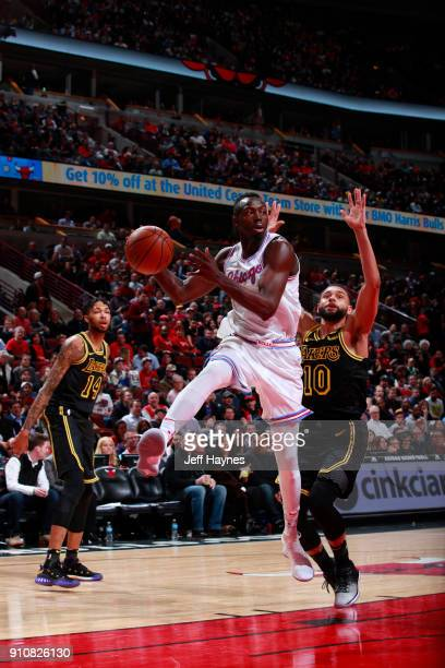 Jerian Grant of the Chicago Bulls handles the ball against the Los Angeles Lakers on January 26 2018 at the United Center in Chicago Illinois NOTE TO...