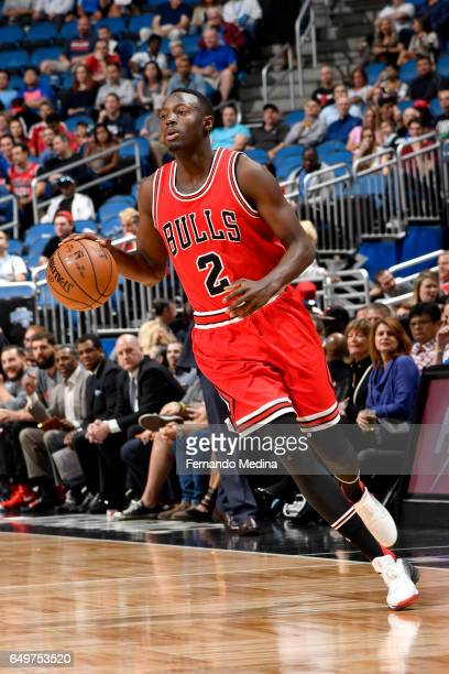 Jerian Grant of the Chicago Bulls handles the ball against the Orlando Magic on March 8 2017 at Amway Center in Orlando Florida NOTE TO USER User...