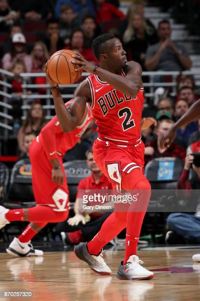 Jerian Grant of the Chicago Bulls handles the ball against the New Orleans Pelicans on November 4 2017 at the United Center in Chicago Illinois NOTE...