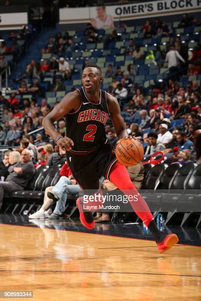 Jerian Grant of the Chicago Bulls handles the ball against the New Orleans Pelicans on January 22 2018 at the Smoothie King Center in New Orleans...