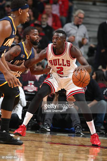 Jerian Grant of the Chicago Bulls handles the ball against the Indiana Pacers on October 8 2016 at the United Center in Chicago Illinois NOTE TO USER...