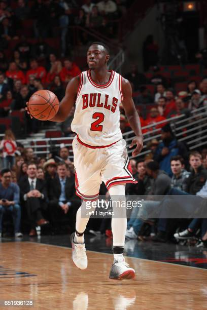 Jerian Grant of the Chicago Bulls handles the ball against the Houston Rockets on March 10 2017 at the United Center in Chicago Illinois NOTE TO USER...