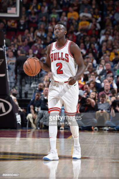 Jerian Grant of the Chicago Bulls handles the ball against the Cleveland Cavaliers on December 21 2017 at Quicken Loans Arena in Cleveland Ohio NOTE...