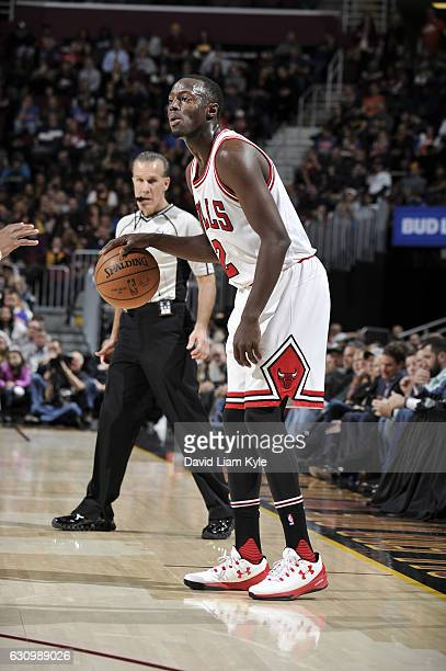 Jerian Grant of the Chicago Bulls handles the ball during a game against the Cleveland Cavaliers on January 4 2017 at Quicken Loans Arena in...