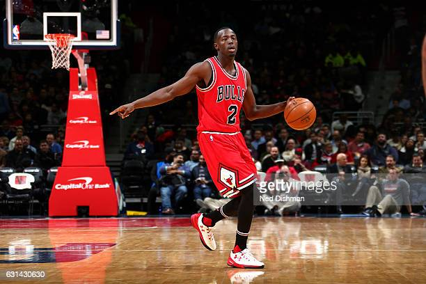 Jerian Grant of the Chicago Bulls handles the ball during the game against the Washington Wizards on January 10 2017 at Verizon Center in Washington...