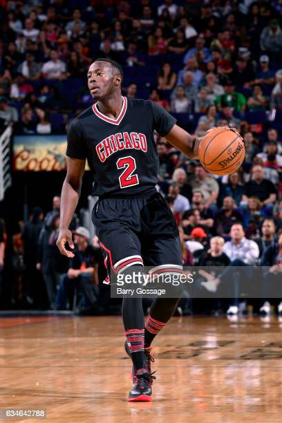 Jerian Grant of the Chicago Bulls handles the ball during the game against the Phoenix Suns on February 10 2017 at Talking Stick Resort Arena in...