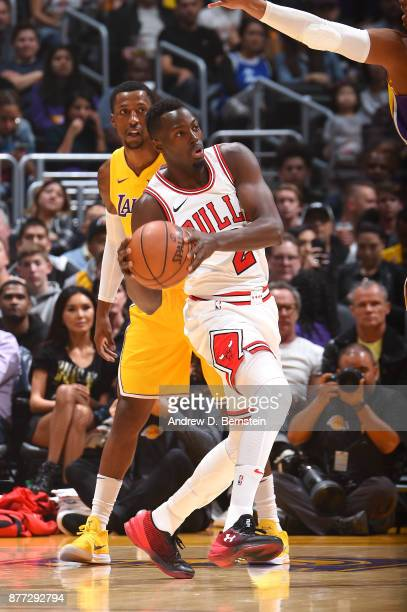 Jerian Grant of the Chicago Bulls looks to pass against the Los Angeles Lakers on November 21 2017 at STAPLES Center in Los Angeles California NOTE...