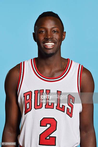 Jerian Grant of the Chicago Bulls poses for a head shot during the 20162017 Chicago Bulls Media Day on September 26 2016 at the Advocate Center in...