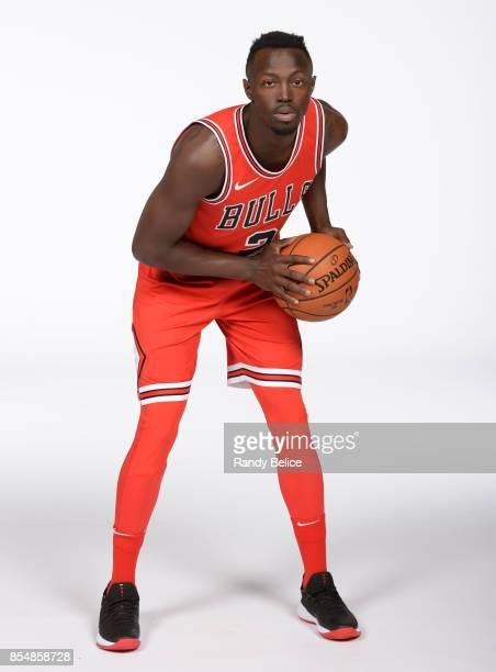 Jerian Grant of the Chicago Bulls poses for a portrait during the 201718 NBA Media Day on September 25 2017 at the United Center in Chicago Illinois...