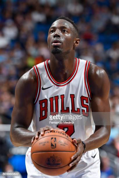 Jerian Grant of the Chicago Bulls shoots a free throw during the game against the Orlando Magic on November 3 2017 at Amway Center in Orlando Florida...