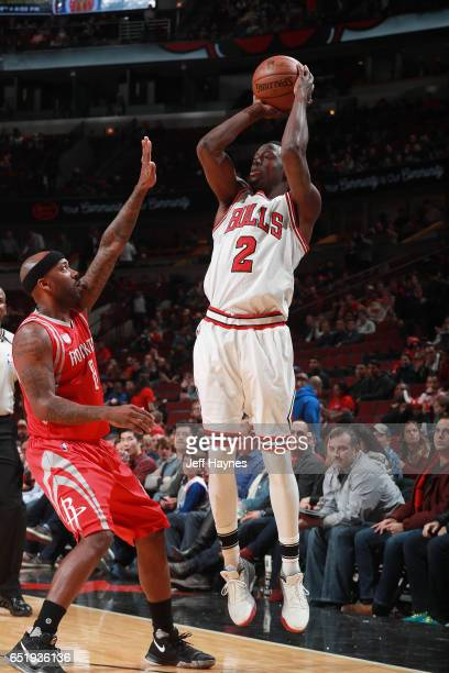 Jerian Grant of the Chicago Bulls shoots the ball against the Houston Rockets on March 10 2017 at the United Center in Chicago Illinois NOTE TO USER...