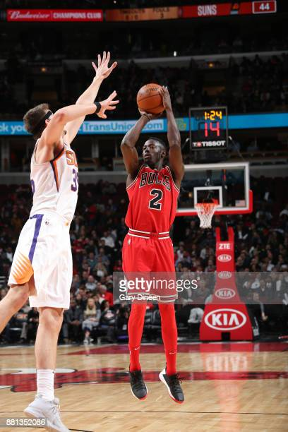 Jerian Grant of the Chicago Bulls shoots the ball against the Phoenix Suns on November 28 2017 at the United Center in Chicago Illinois NOTE TO USER...