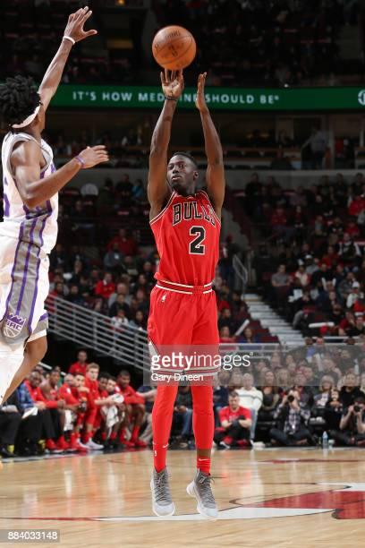 Jerian Grant of the Chicago Bulls takes the shot against the Sacramento Kings on December 1 2017 at the United Center in Chicago Illinois NOTE TO...