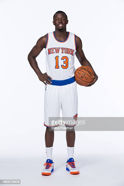 Jerian Grant of the New York Knicks poses for a portrait at Media Day at the MSG Training Facility in Greenburgh New York on September 28 2015 NOTE...