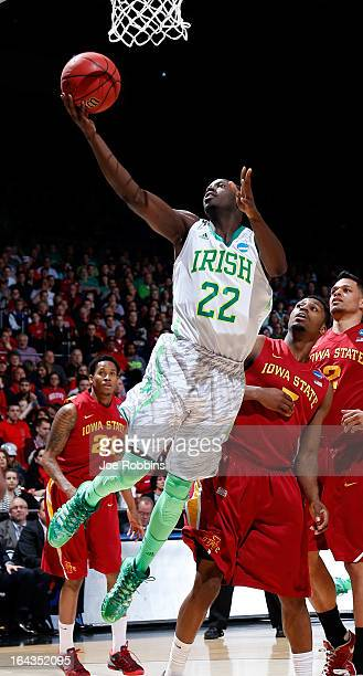 Jerian Grant of the Notre Dame Fighting Irish drives to the basket against the Iowa State Cyclones during the second round of the 2013 NCAA Men's...