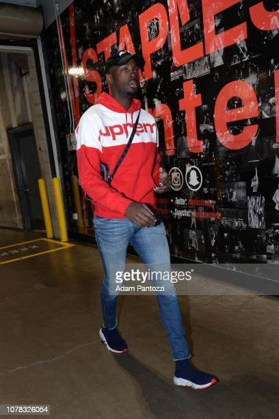 Jerian Grant of the Orlando Magic arrives prior to a game against the Orlando Magic on January 6 2019 at STAPLES Center in Los Angeles California...
